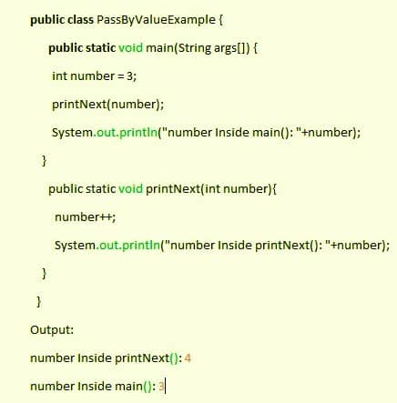 Screenshot of the Pass by Value example.