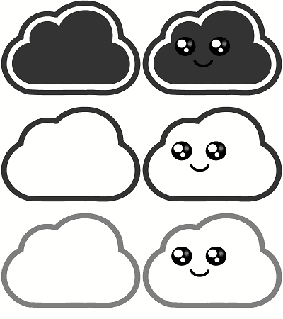 CSS Sprite with cloud images