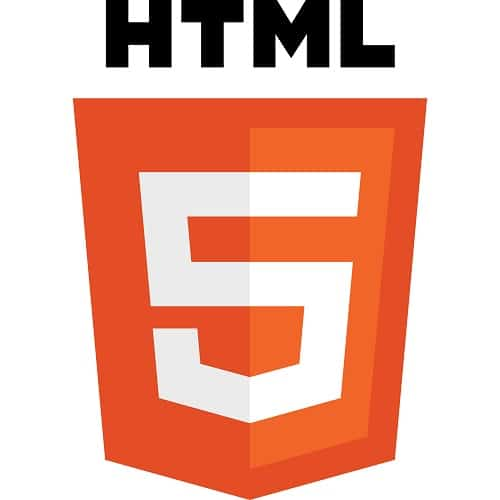 the logo of html5